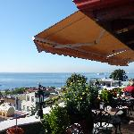Looking at the Marmara from Dersaadet's terrace