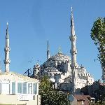 Blue Mosque from Dersaadet's terrace