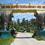 Rear of the Elephant Gate with the 4170 road beyond