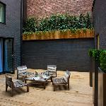 The outdoor deck in the Secret Garden Suite at base2stay Liverpool Hotel