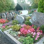 Beautifully tended graves