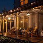 Enjoy a night visit on the porch