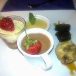 the taster plate of desserts for sharing-fantastic