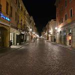 Guastalla main street by night