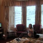 Not the best picture, but it shows our nice, cozy room at the Arrandale.