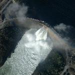 Fly-over of Kariba Dam