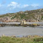 Split rock at Fionphort, Isle of Mull