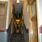 The upstairs hallway