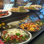 Pastas and salads to choose from