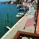 View from Juliet balcony of Ca Mazzega