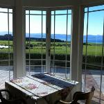 view from the drawing room over palliser bay