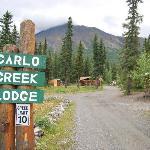 Strada d' accesso al lodge