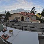 Vista desde la terraza, donde se puede desayunar y pasar el rato