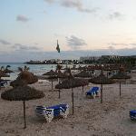 Sa Coma beach at dusk
