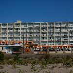 The Ocean Club from the beach