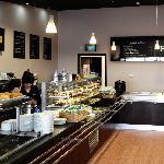 Deli and coffee counter
