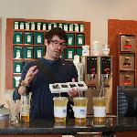 Kent, at the tea shop