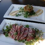 Smoked Duck Breasts & Crab Cake