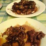 Spicy Chicken & Sesame beef