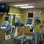 Elliptical and treadmill in workout room