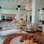 Breakfast overlooking the lobby