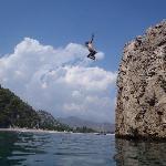 Olympos Beach rock jump