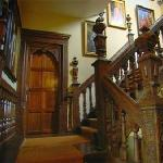 The stunning oak staircase
