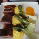 Duck with bok choy