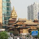 Views of Jing 'an Temple from the room