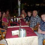 The family waiting to eat