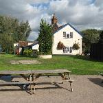 The Bell Inn from the outside seating area