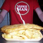 Super fish and chips for super man