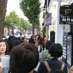Busy sidewalk