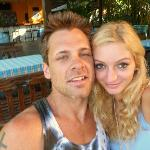 Myself and my beautiful girl at the restaurant