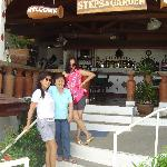 At the coffee shop of Steps & Garden