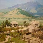 the large diorama of the Victorian beginnings of Calistoga