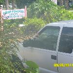 Driftwood sign and my Chevy truck