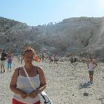 me in the volcanic crater , Nissyros