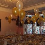 Our transformation of the breakfast room to an evening event venue!