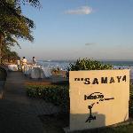 Coucher de soleil à Breeze restaurant, le restaurant de l'hotel