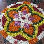 Flower carpet at autumn festival.