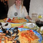 seafood pasta & lobster pasta... wow