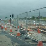 Construction of Metrolink East Manchester tram line