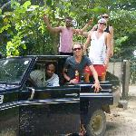 Safari Land Cruiser in the Hikes on the Ceiba Mountain
