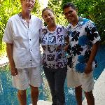 The Perfect Hosts, Roberto and Miguel-I'm the guy in the middle without a tan