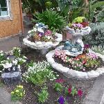The garden at reception