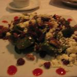 Spinach Salad with Feta, Cranberries etc.