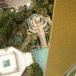 The pool and hydo slide