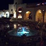 Night time courtyard
