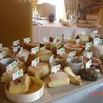 magnifique plateau de fromage